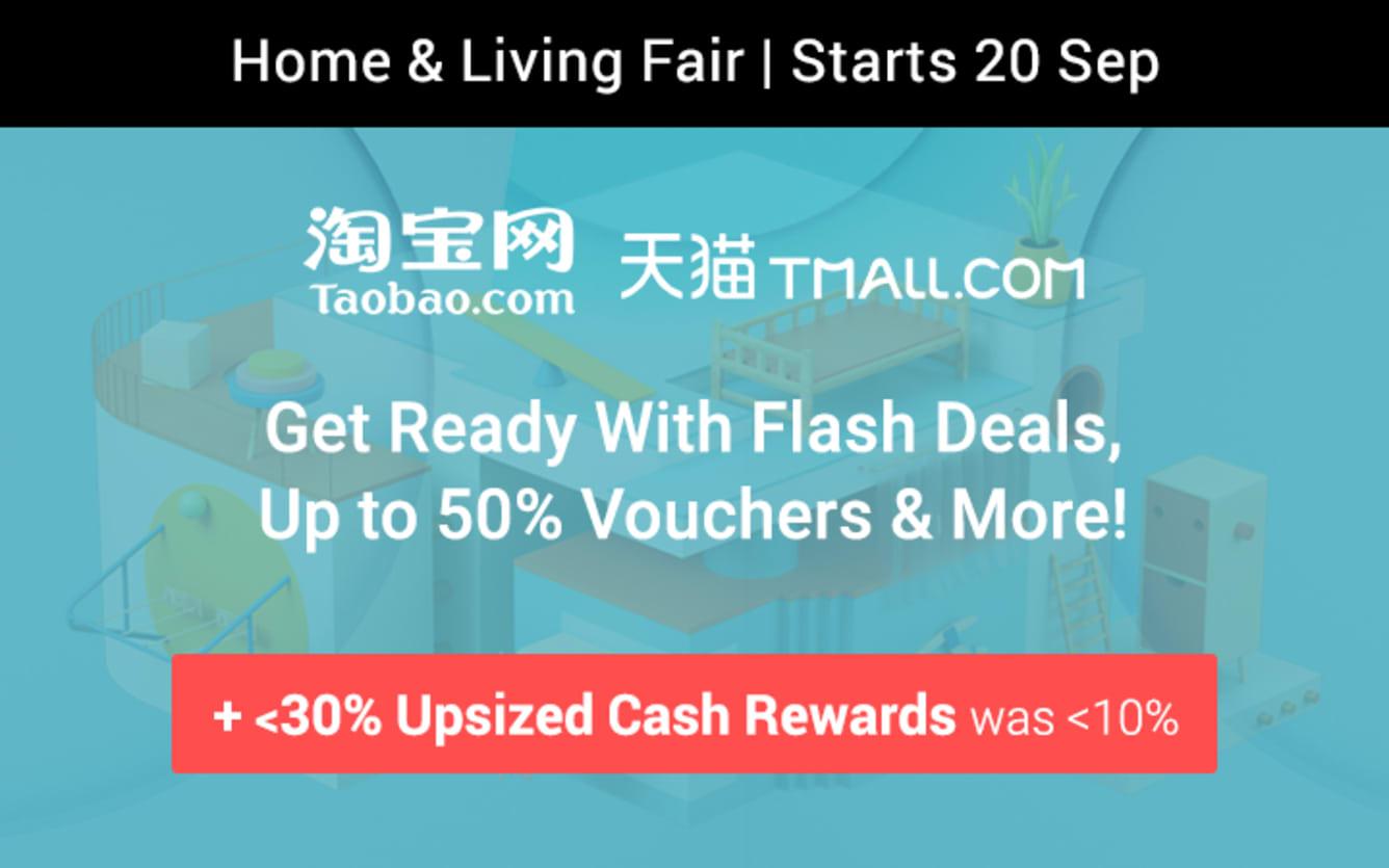Taobao & Tmall 920 Home & Living Fair Teaser Grab Flash Deals & More! ShopBack