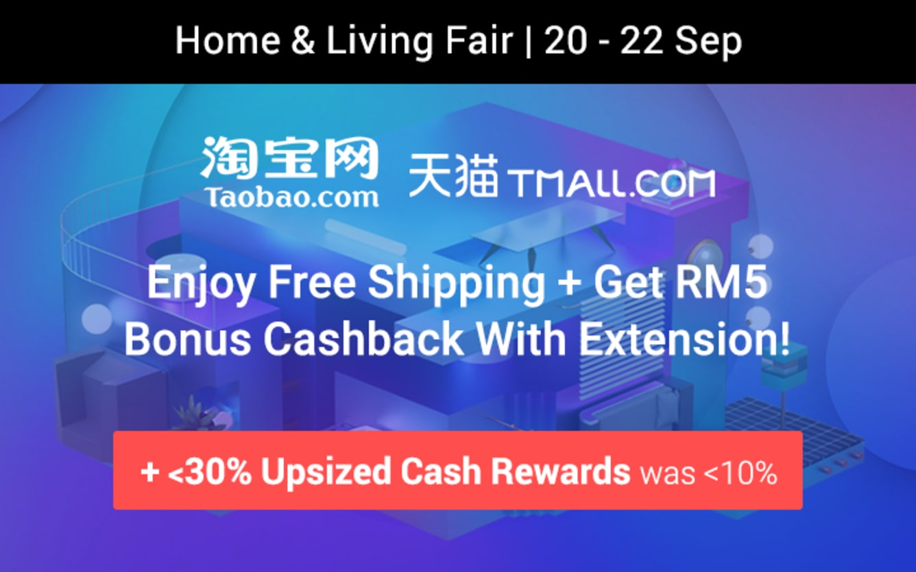 Taobao & Tmall 920 Home & Living Fair Teaser Grab Flash Deals & More! ShopBack