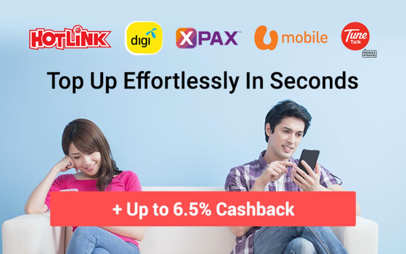 Mobile Reloads Lazada 11street Qoo10 Instantly Topup Hotlink Celcom Digi U Mobile Tune Talk ShopBack
