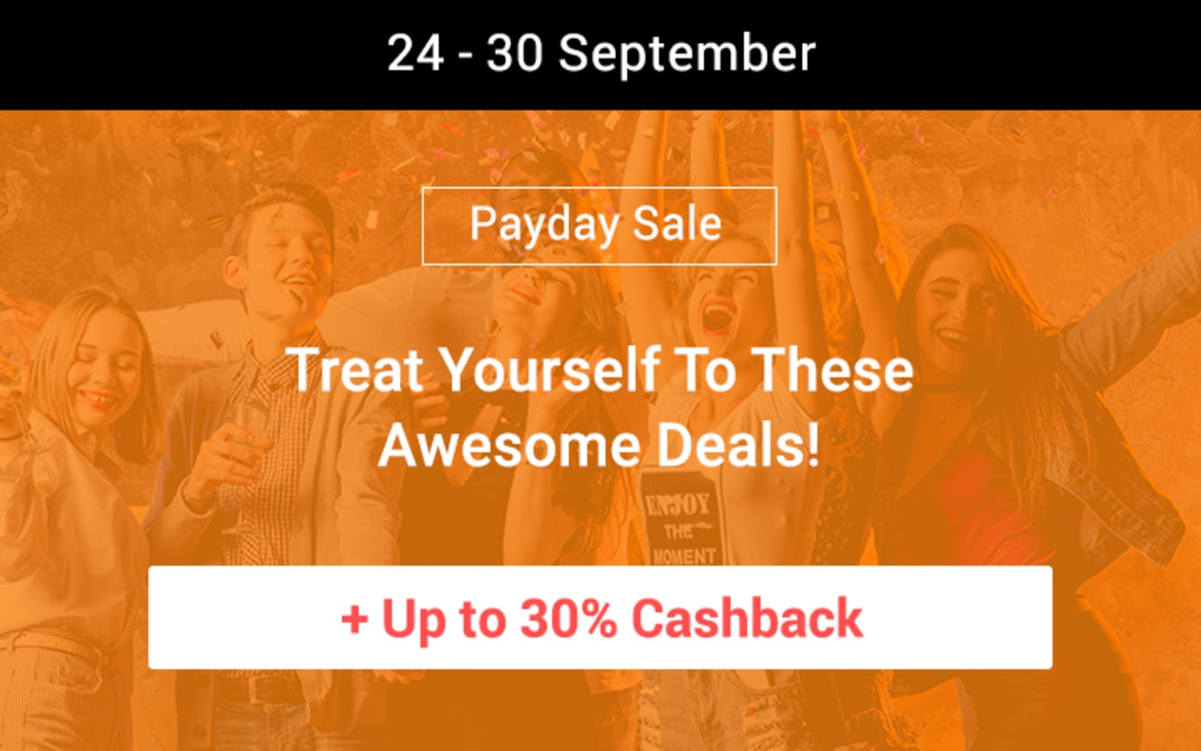 Payday Sale September Up to 30% Cashback ShopBack Lazada 11street Booking.com Qoo10 Fave