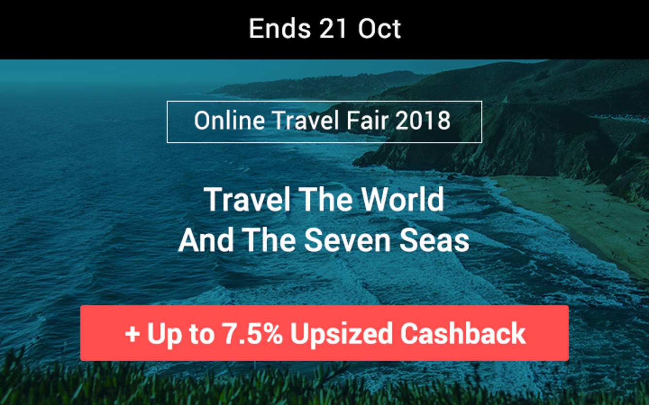Travel Fair October 2018 Up to 7.5% Cashback ShopBack