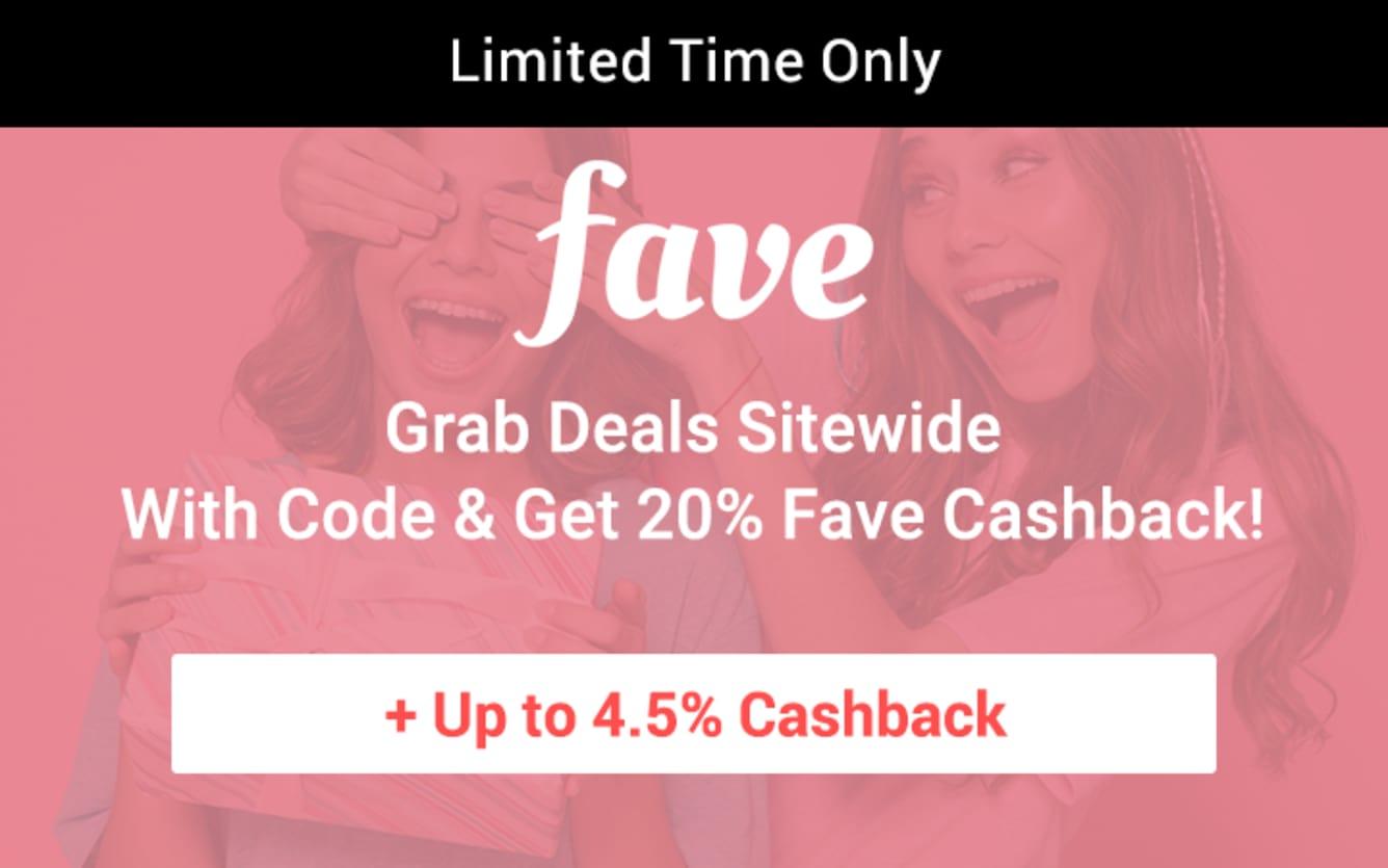 Fave 20% Fave Cashback Code Cashback November 2018 ShopBack