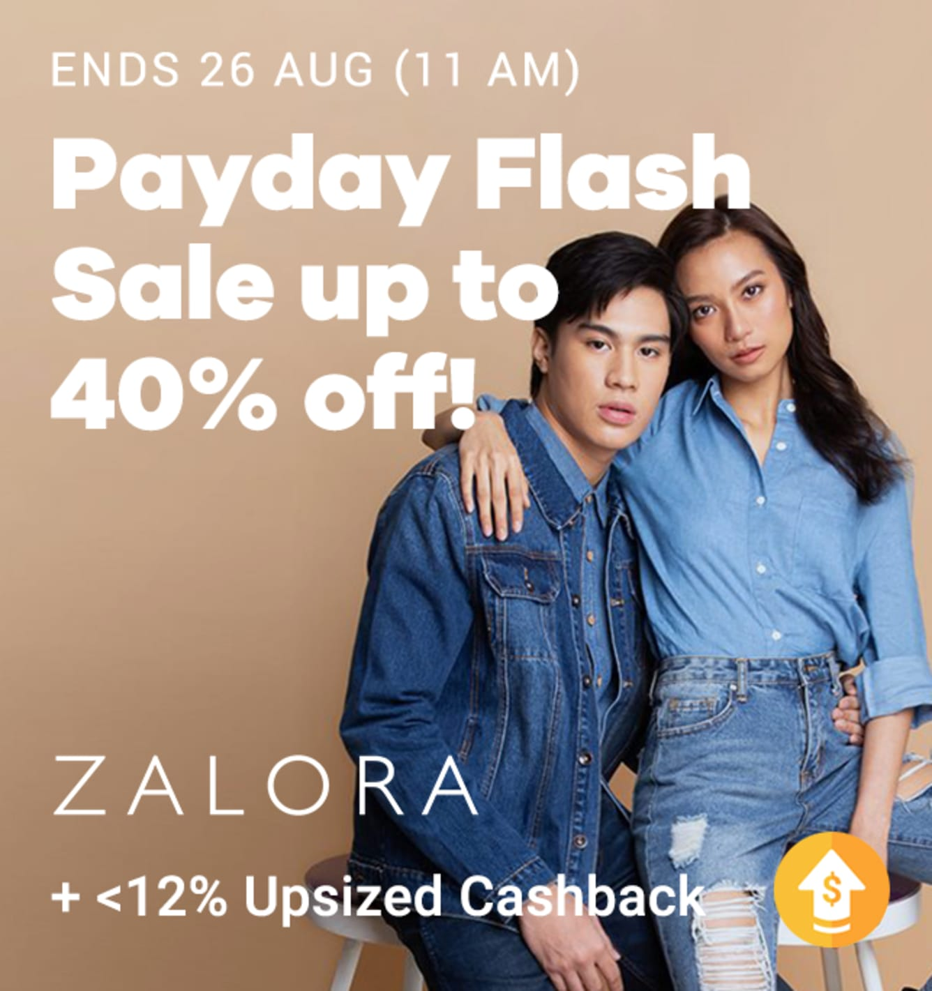 ZALORA Payday Flash Sale + Up to 12% Upsized Cashback