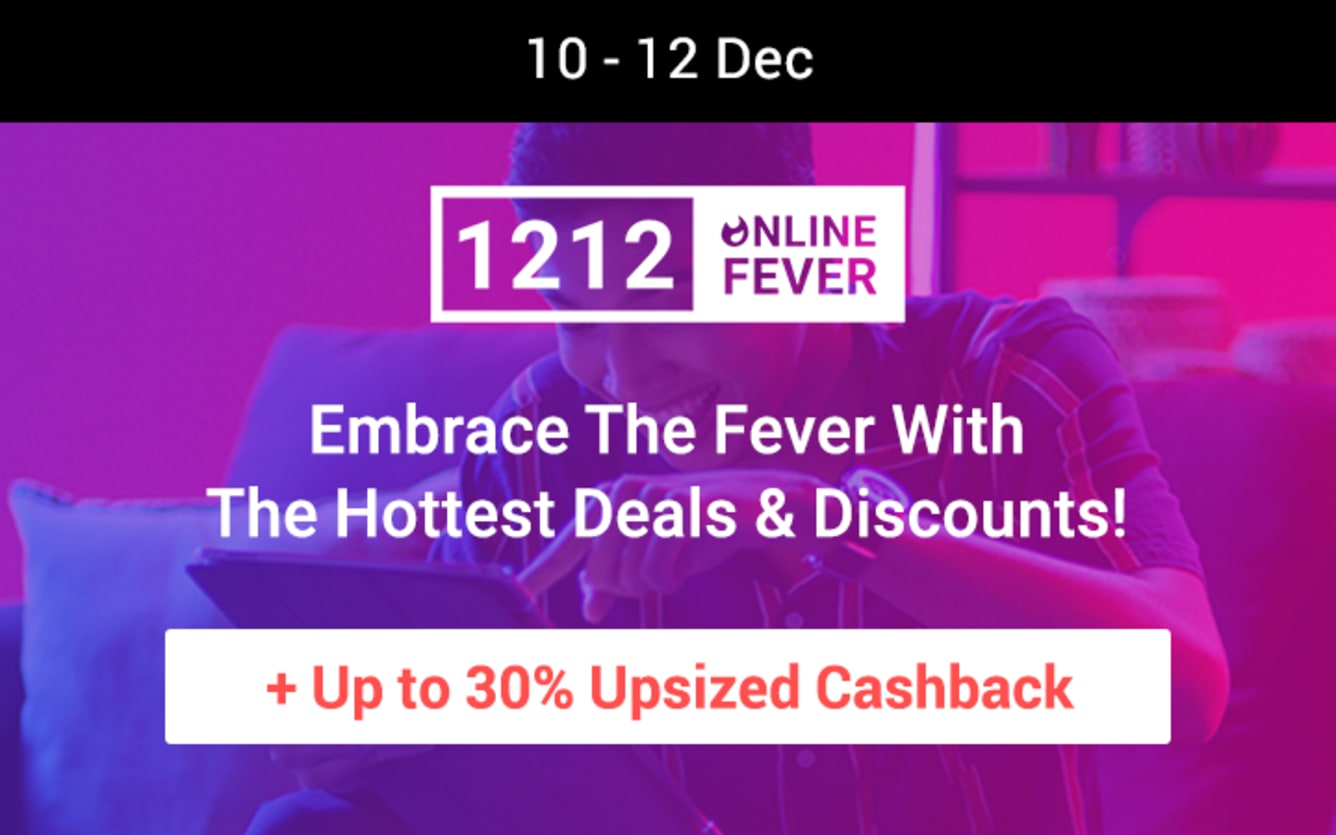12.12 Online Fever Sale ShopBack Cashback December 2018