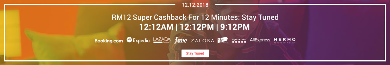 12.12 RM12 Super Cashback ShopBack December 2018 - Teaser