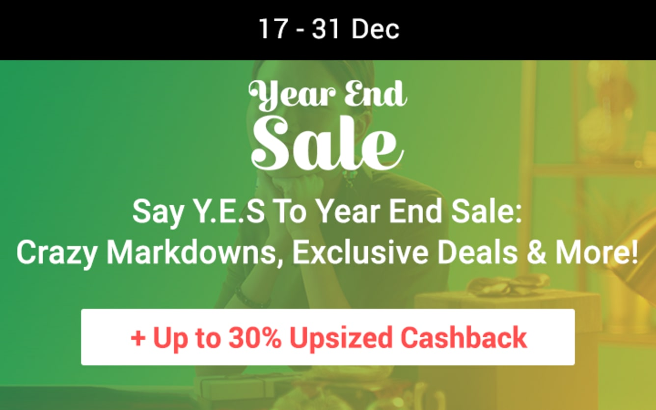Year End Sale ShopBack Cashback December 2018