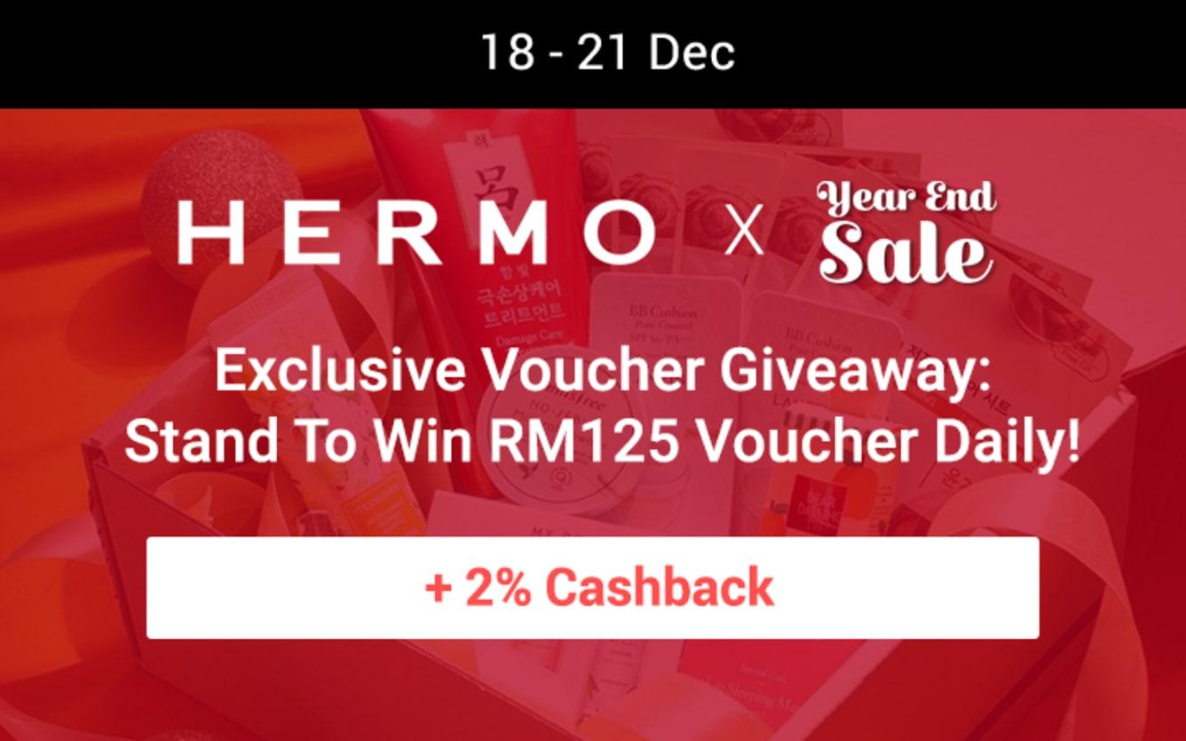 Hermo Voucher Giveaway ShopBack Cashback December 2018