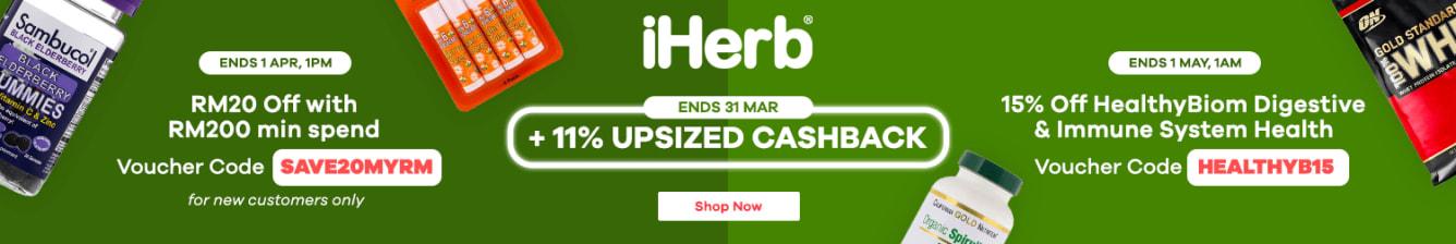 iHerb 11% Upsized Cashback