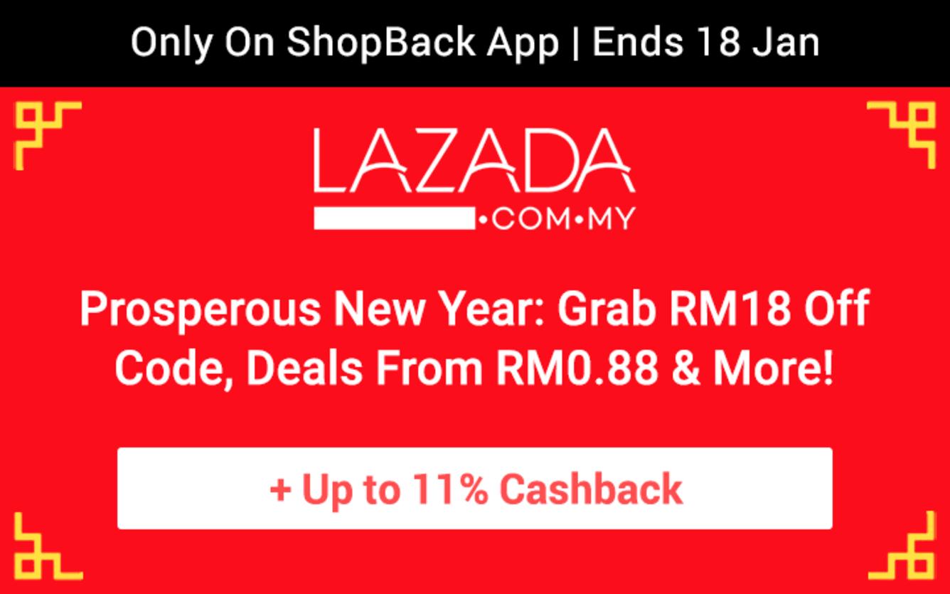 Lazada Chinese New Year Mega Sale ShopBack Cashback January 2019