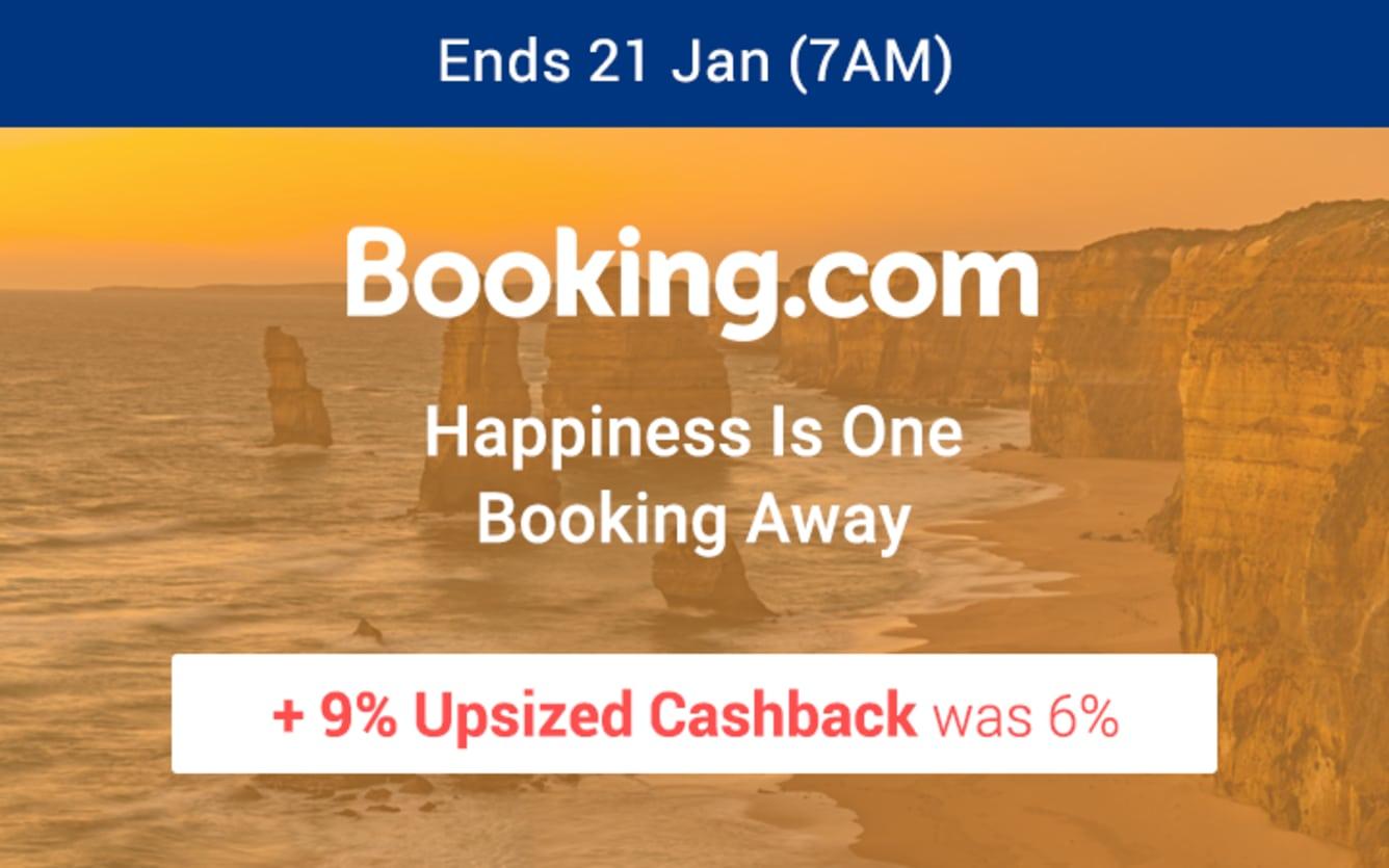 Booking.com 9% Upsized Cashback ShopBack January 2019