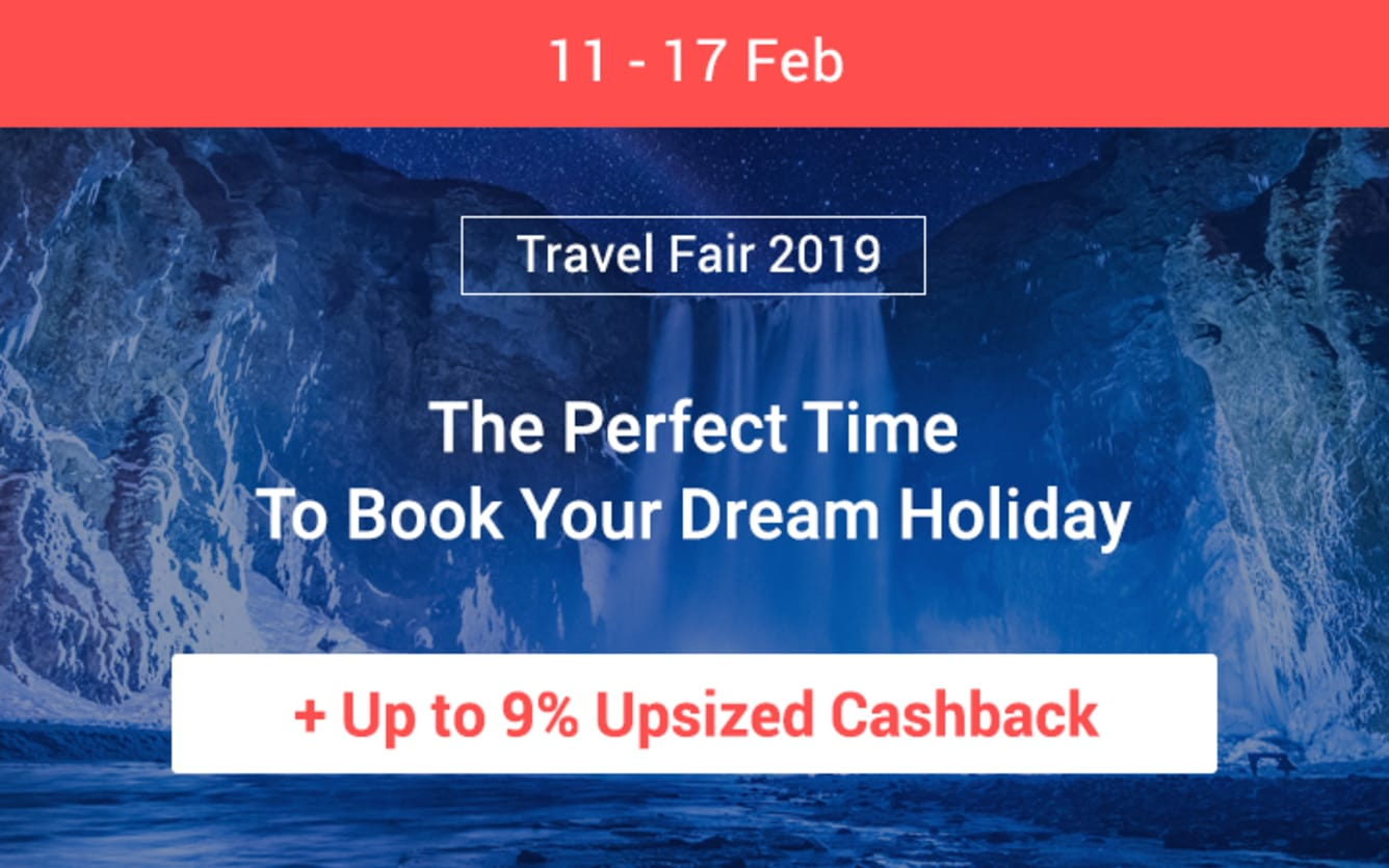 Travel Fair February 2019 ShopBack Cashback
