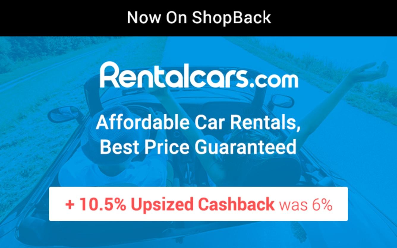 RentalCars Launch ShopBack 10.5% Upsized Cashback February 2019