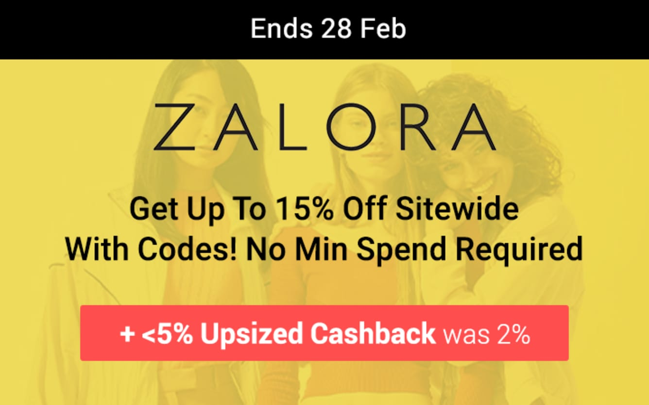 ZALORA Up to 15% Off Sitewide ShopBack Birthday February 2019