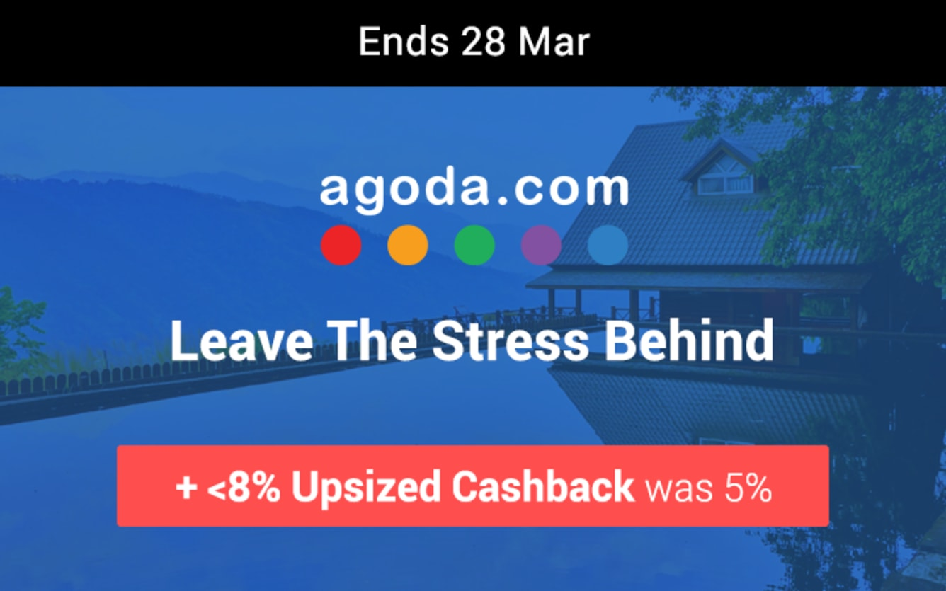 Agoda Up to 8% Upsized Cashback March 2019 ShopBack Cashback