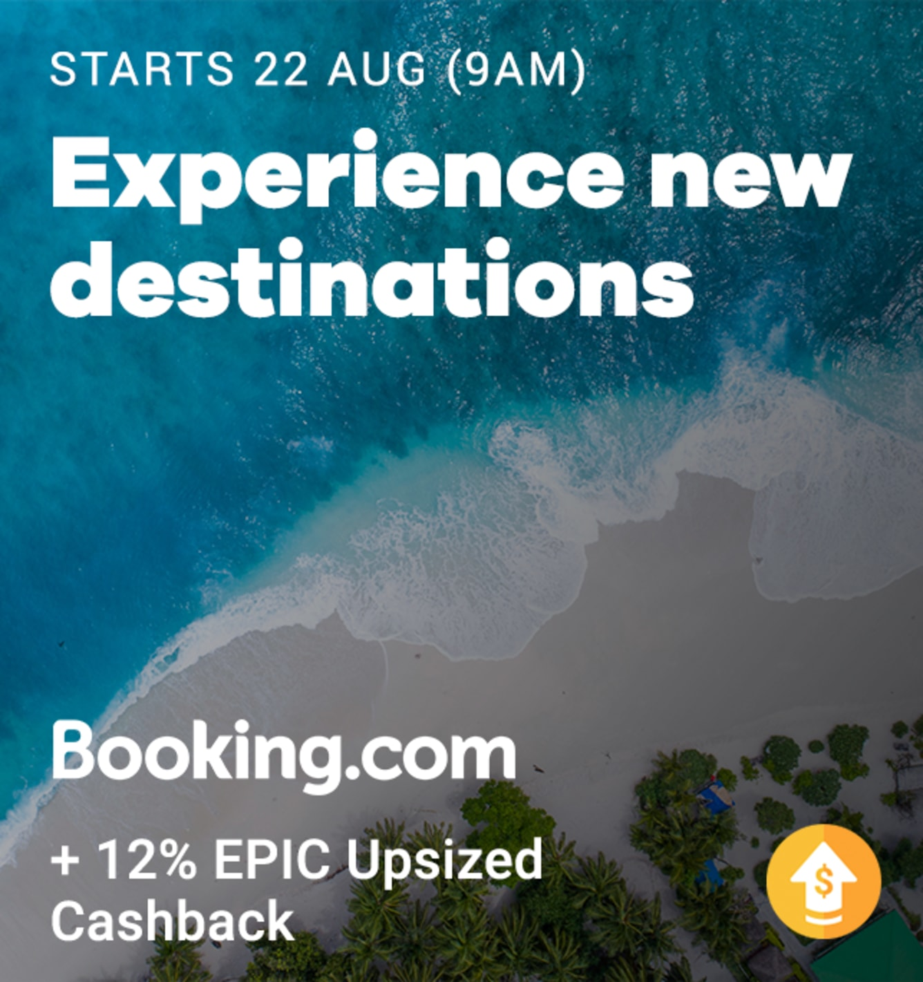 Travel Fair: Booking.com 12% Upsized Cashback 2019