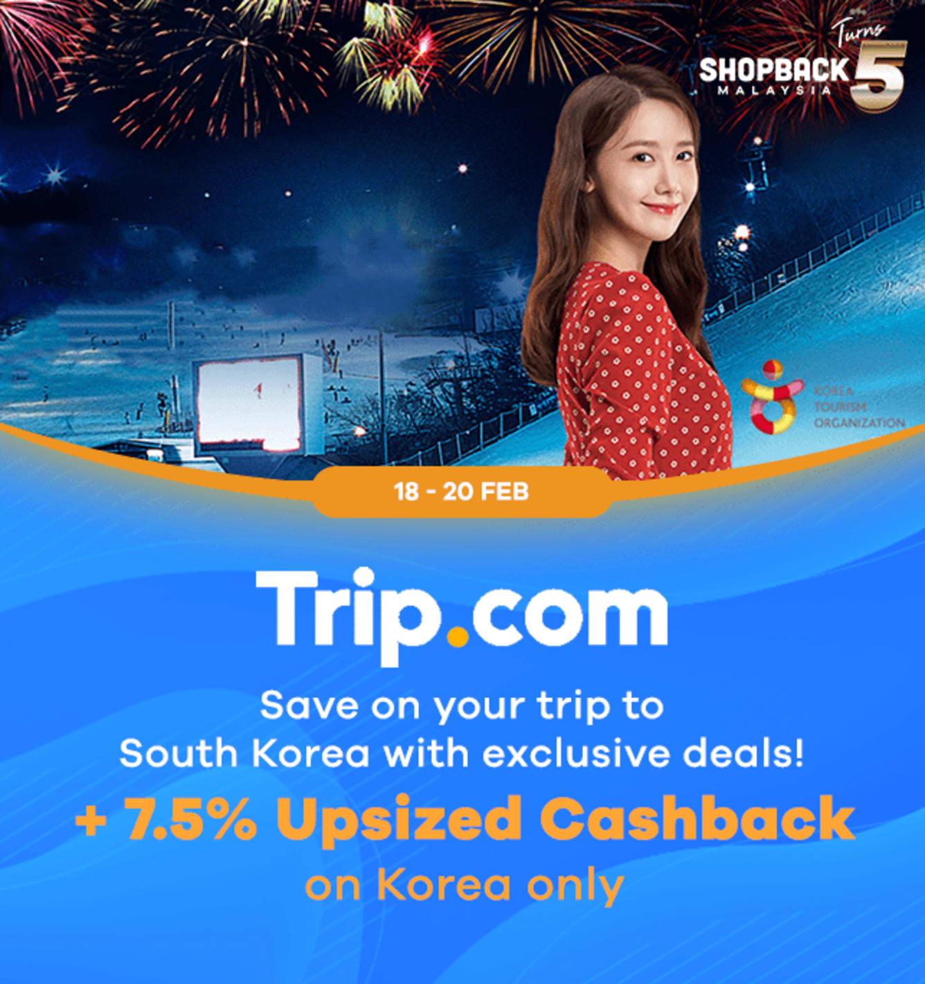 Trip.com 7.5% Upsized Cashback