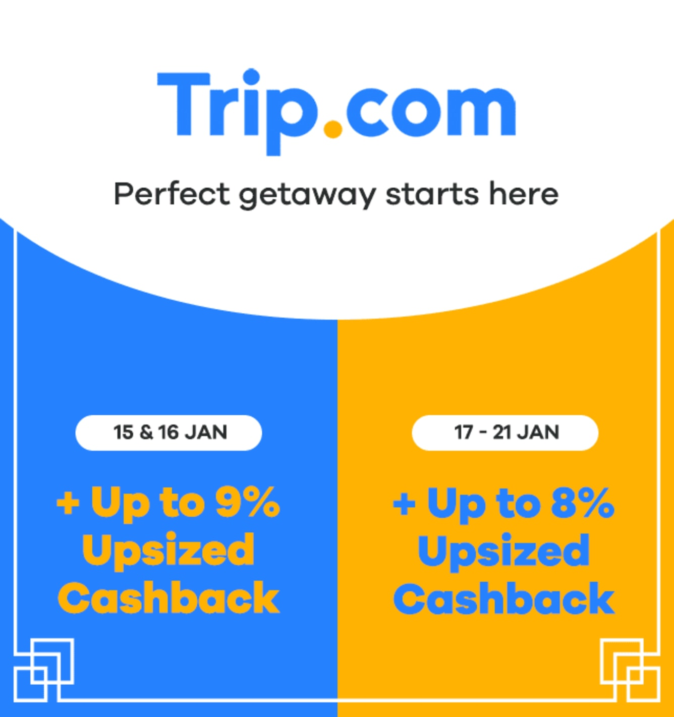Trip.com <9% Upsized Cashback