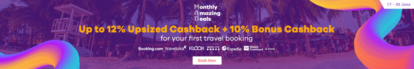 Bonus Cashback on your first Travel Booking