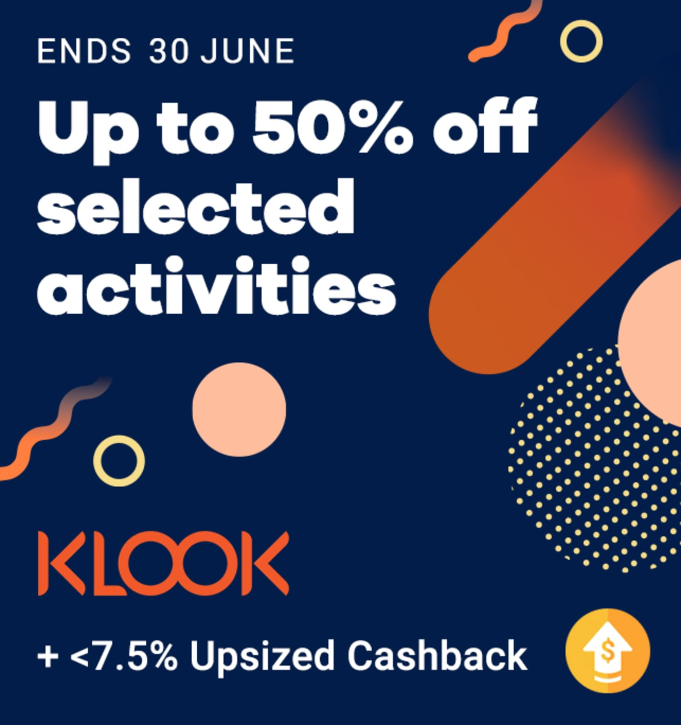 Celebrate Klook's Birthday with Up to 7.5% Upsized Cashback