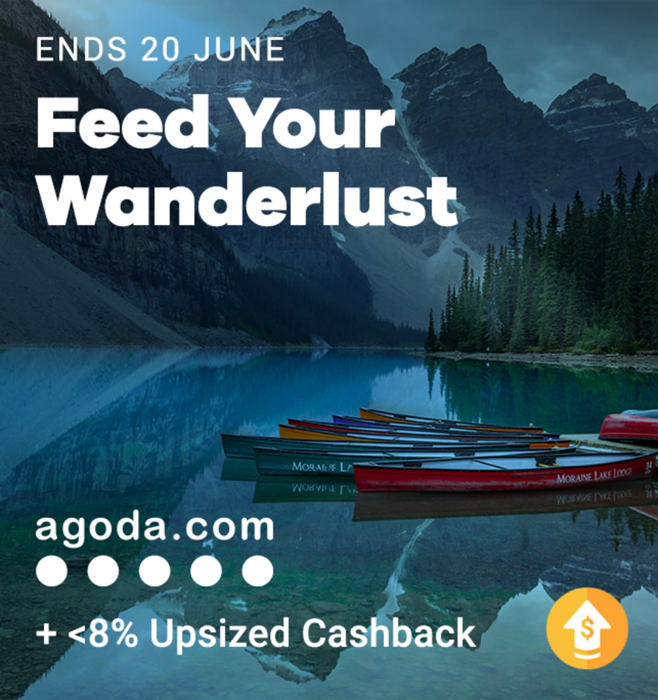 Agoda Up to 8% Upsized Cashback