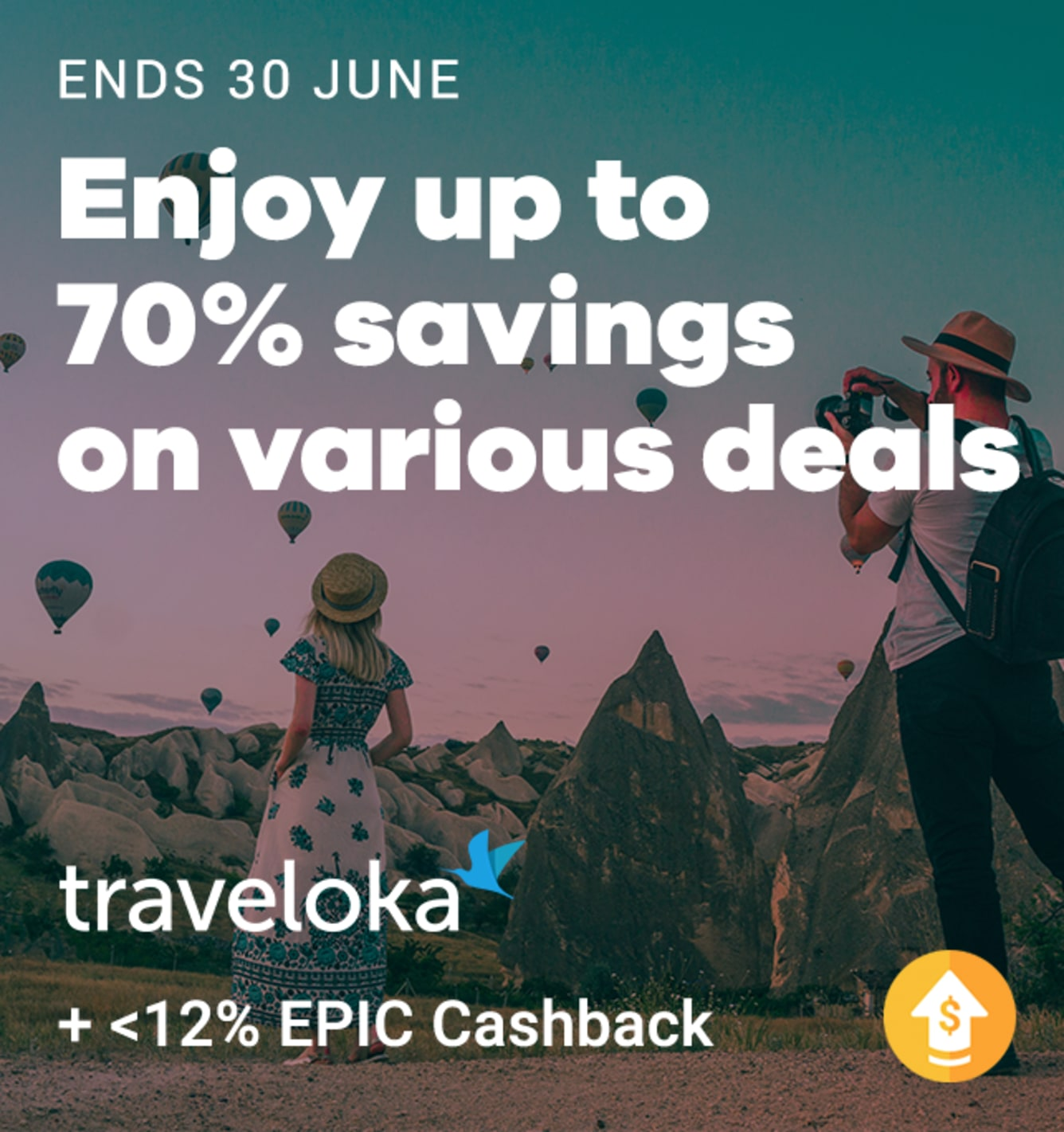 Traveloka Up to 12% Upsized Cashback