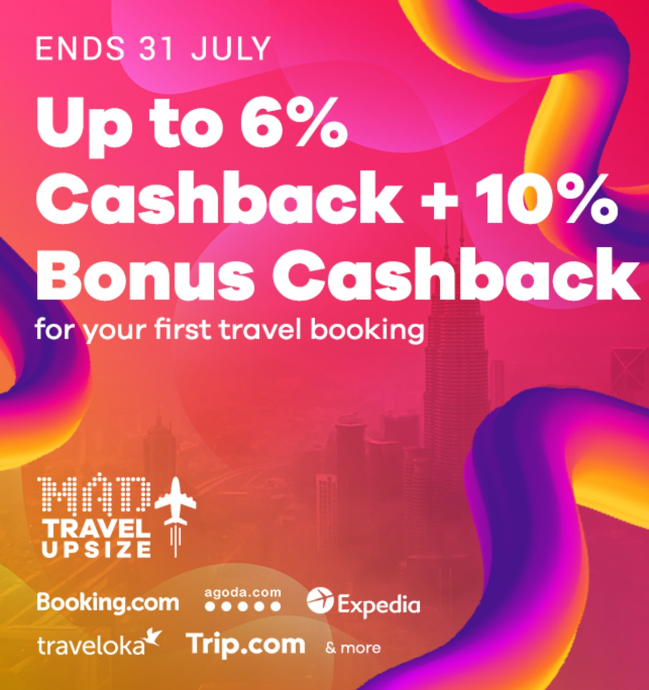 Get 10% Bonus Cashback for Your First Travel Booking