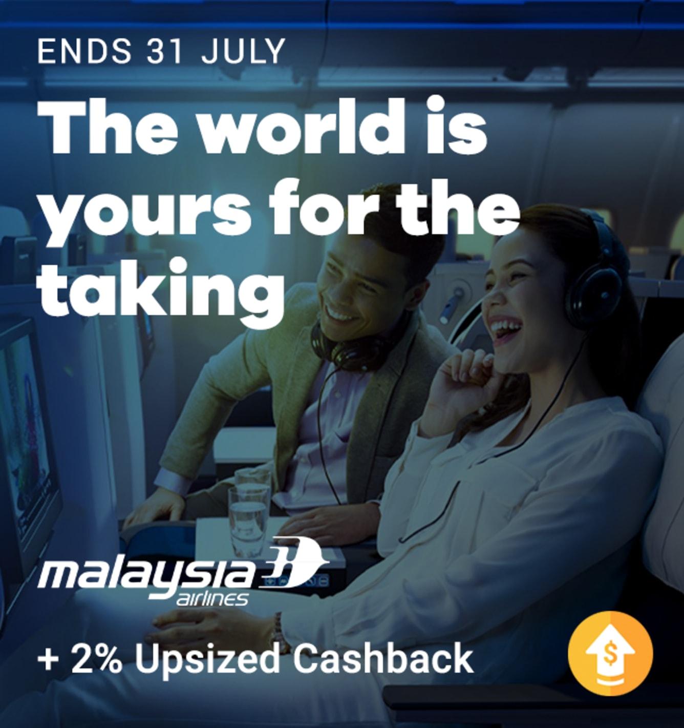 Malaysia Airlines 2% Upsized Cashback
