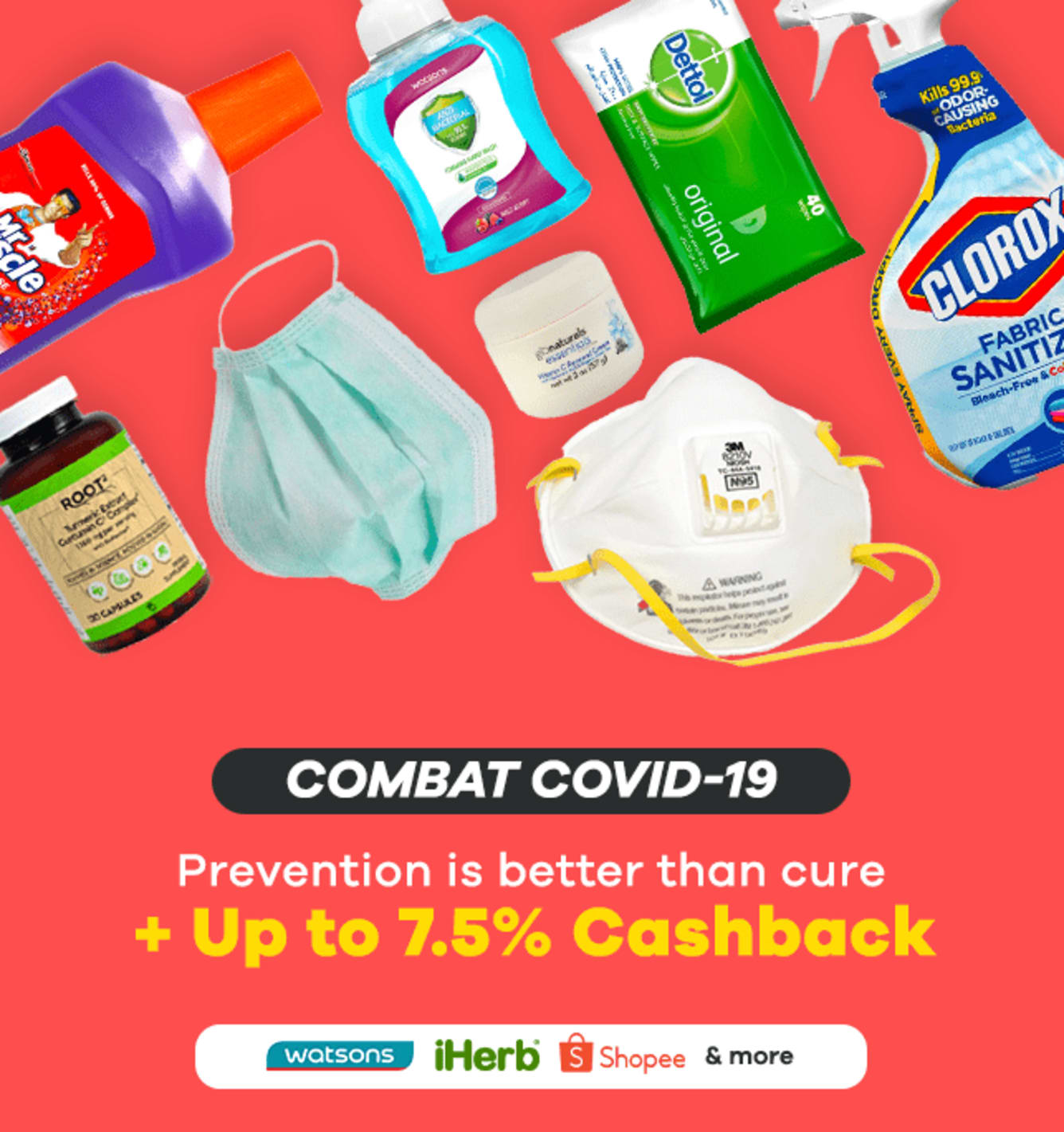 COVID-19 Survival kit + Up to 15% Cashback