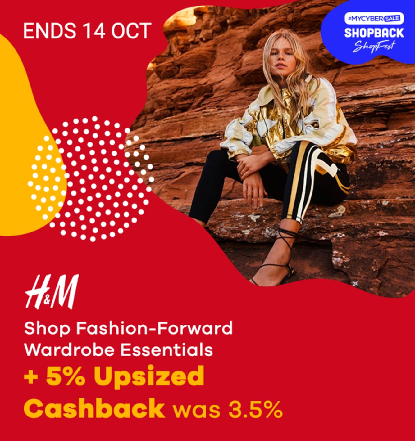 ShopFest H&M 5% Upsized Cashback