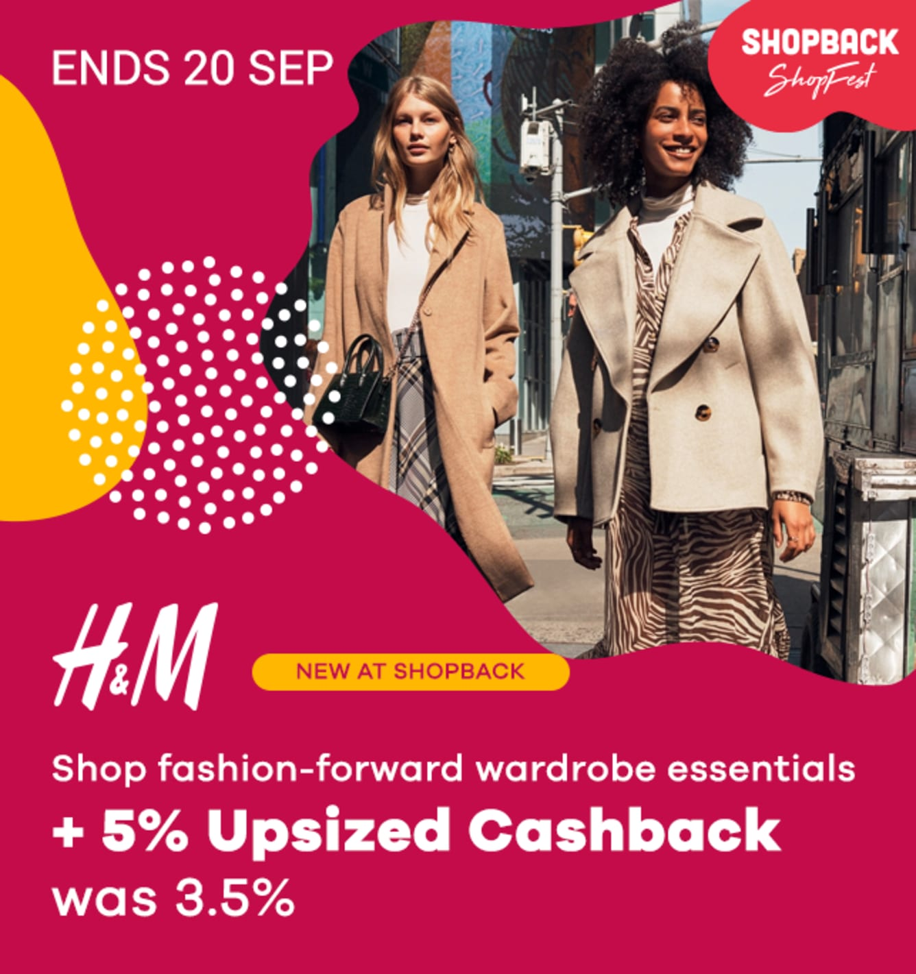 ShopFest H&M 5% Upsized Cashback