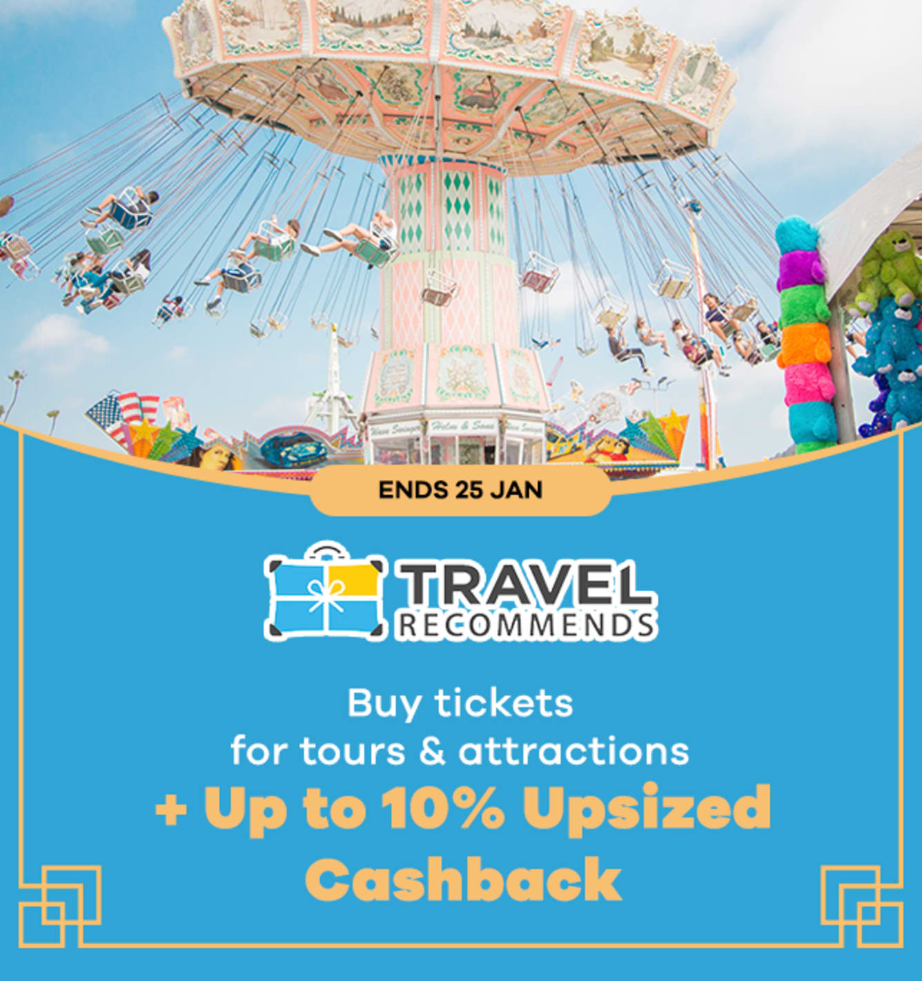 Travel Recommends <10% Upsized Cashback