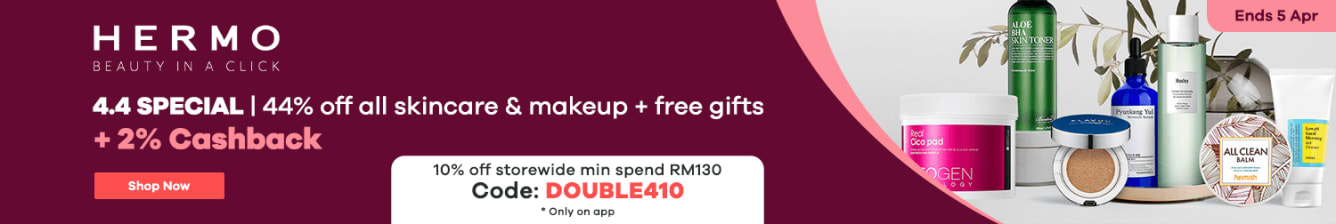 Hermo 4.4 Sale: 44% Off Skincare & Makeup