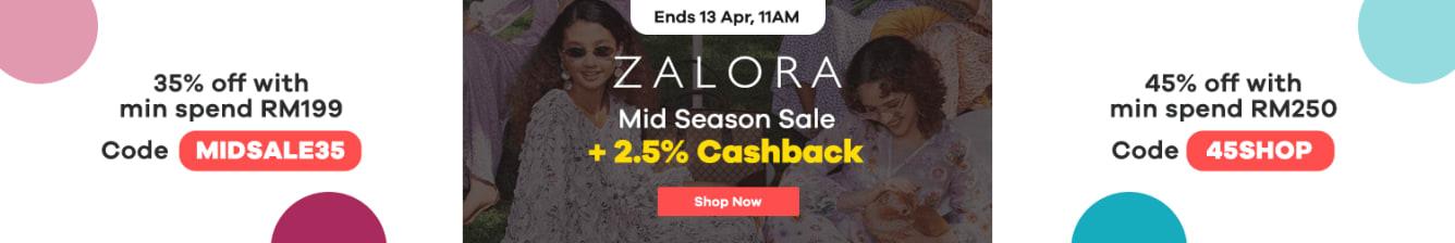Zalora Mid Season Sale: 2.5% Cashback