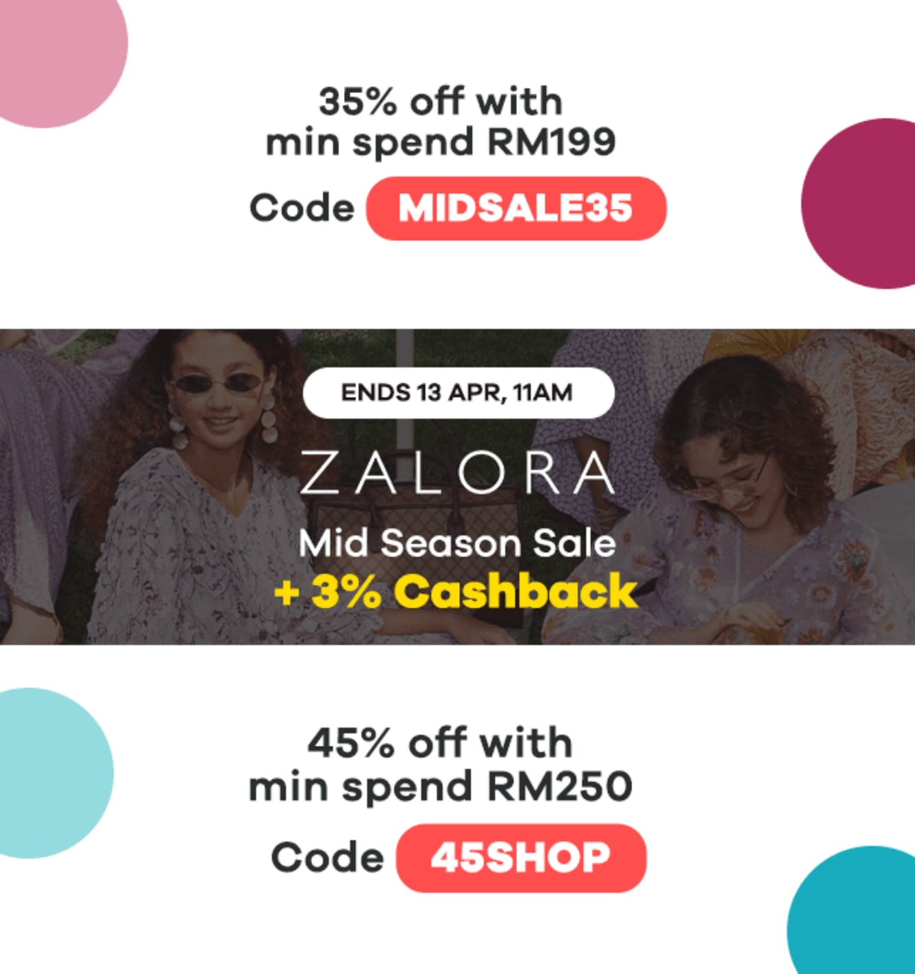 Zalora Mid Season Sale: 3% Cashback