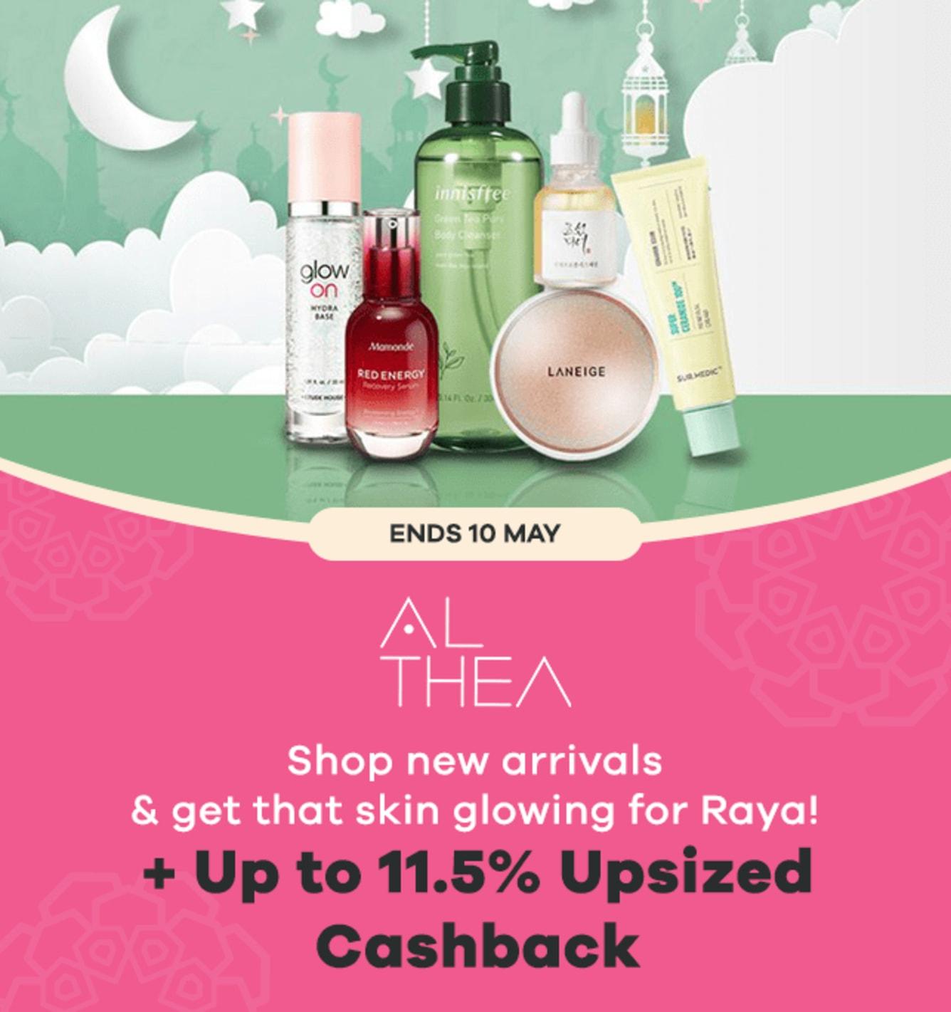 Althea Raya Deals + Up to 11.5% Upsized Cashback