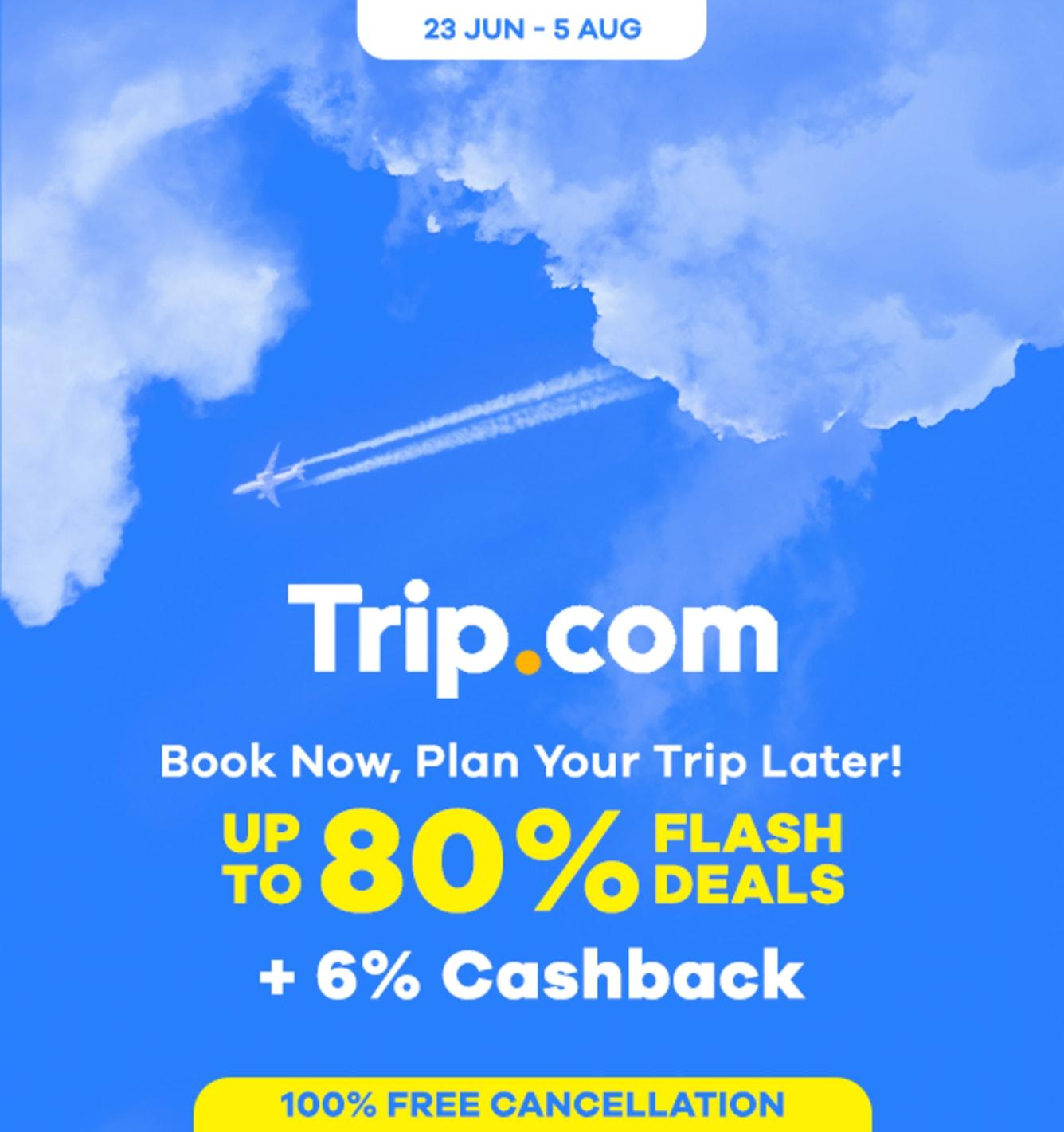 Trip.com Up to 80% Flash Deals