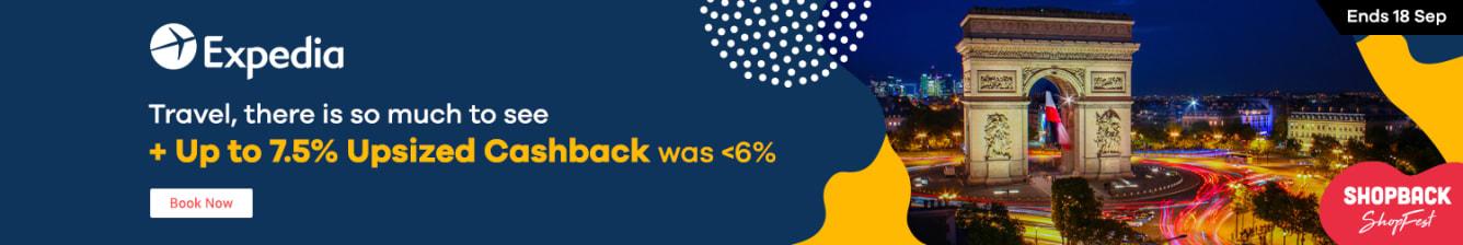 Expedia: 7.5% Upsized Cashback September 2019