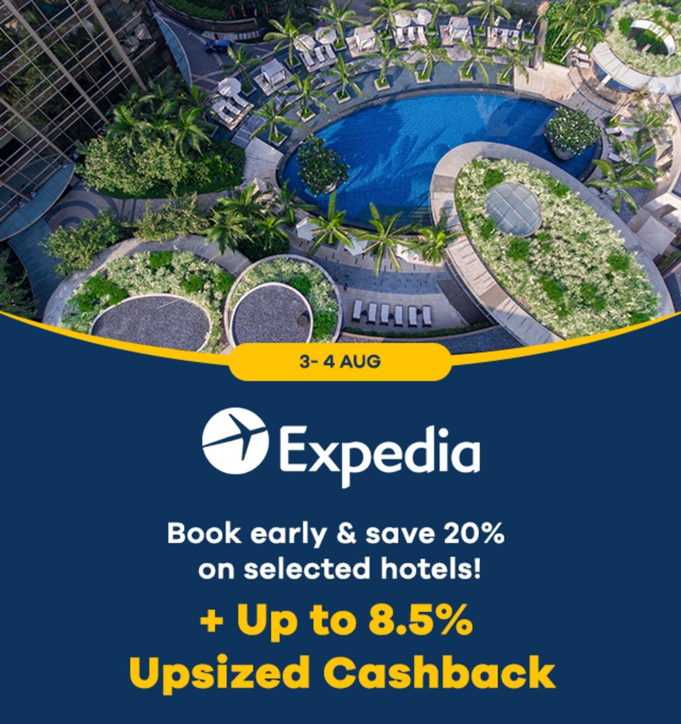 Expedia: Up to 7.5% Upsized Cashback