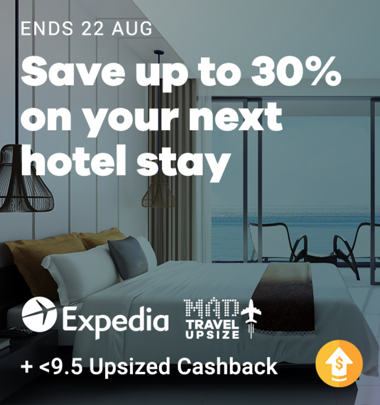 Travel Fair: Expedia: 9.5% Upsized Cashback