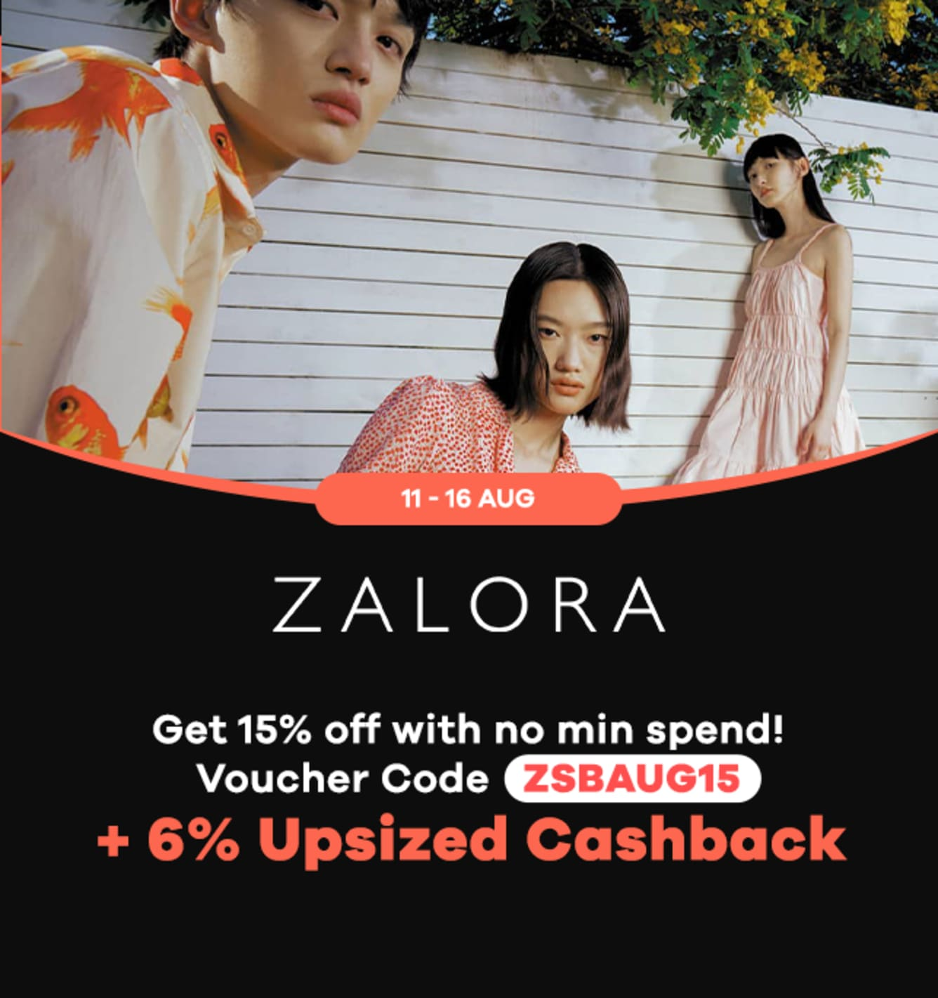 Zalora 12% Upsized Cashback Shopback