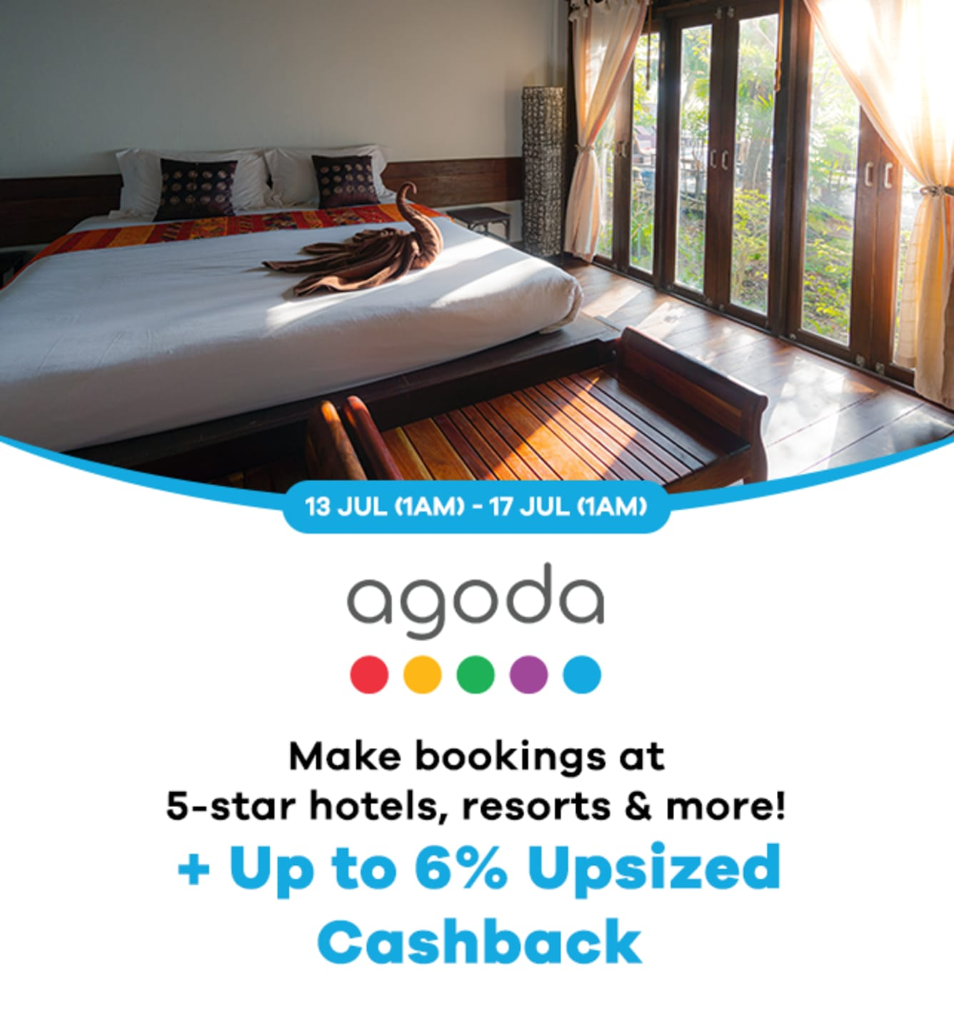 Agoda: Up to 7% Upsized Cashback