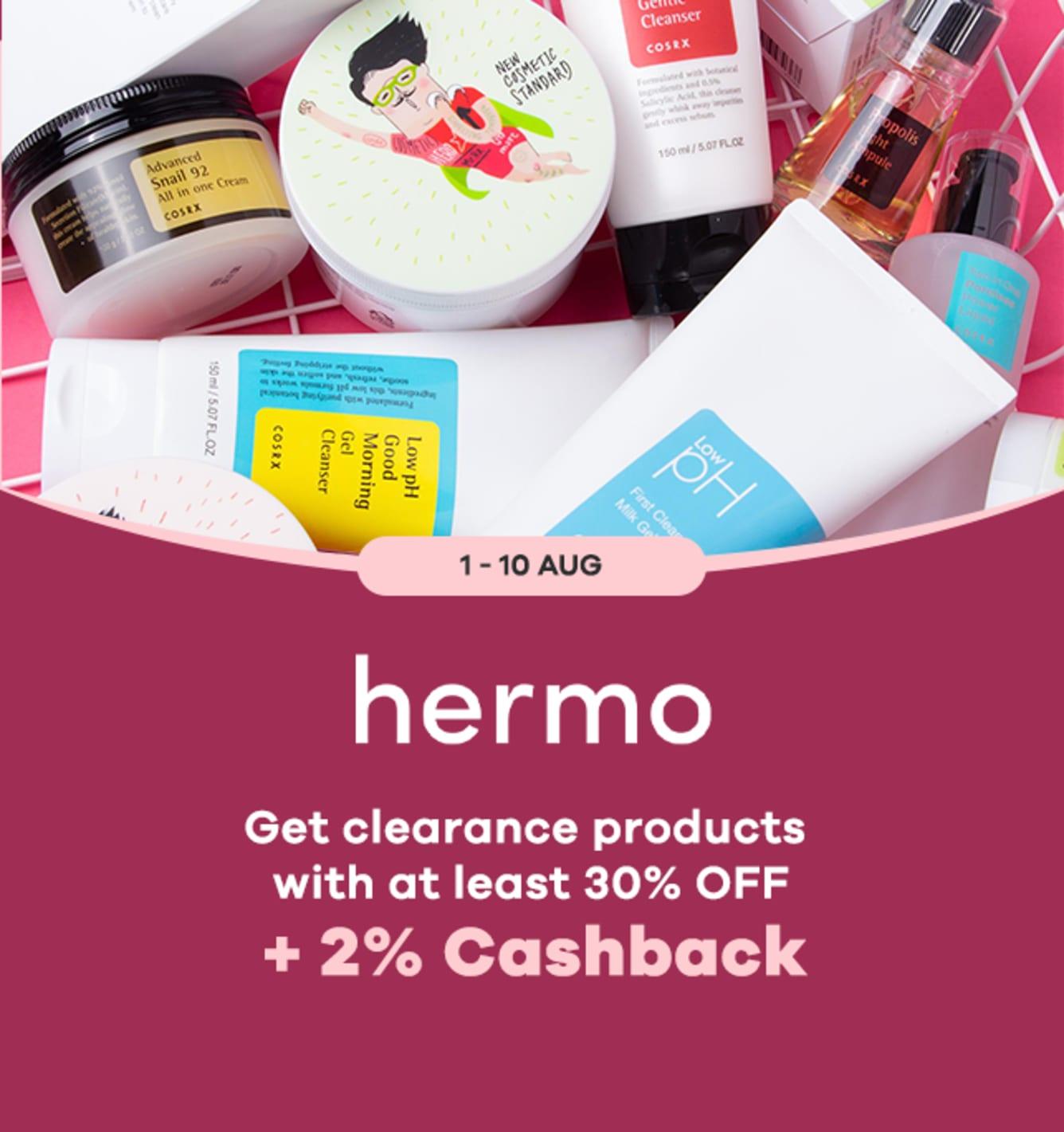 Hermo 2% Cashback