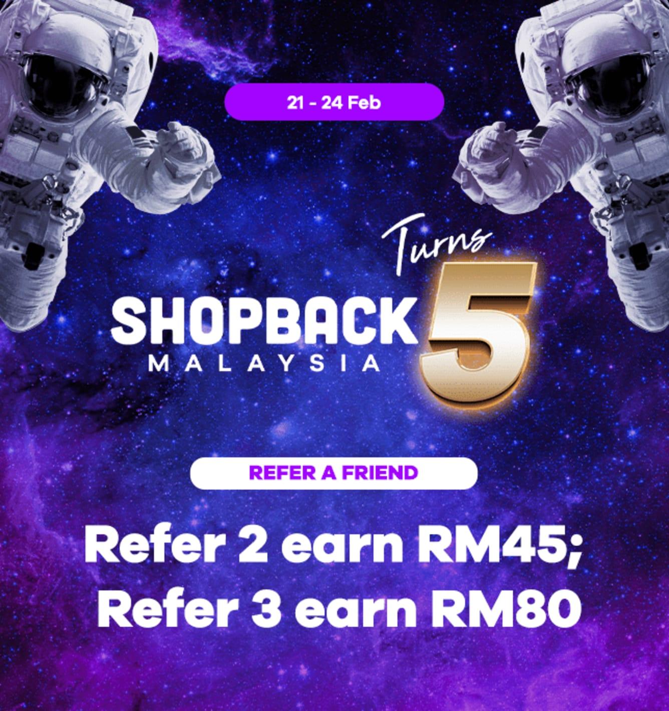 Refer 3 friends, Earn RM80