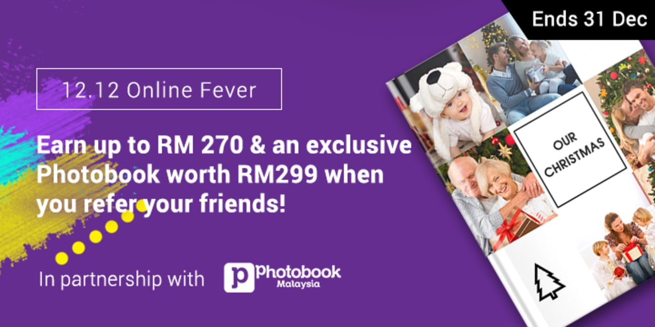 Refer 4 friends, Earn RM80 December 2017
