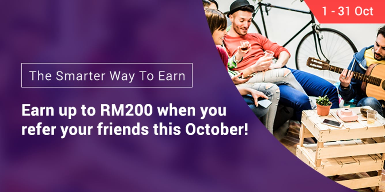 Refer 3 friends, Earn RM60 September 2017