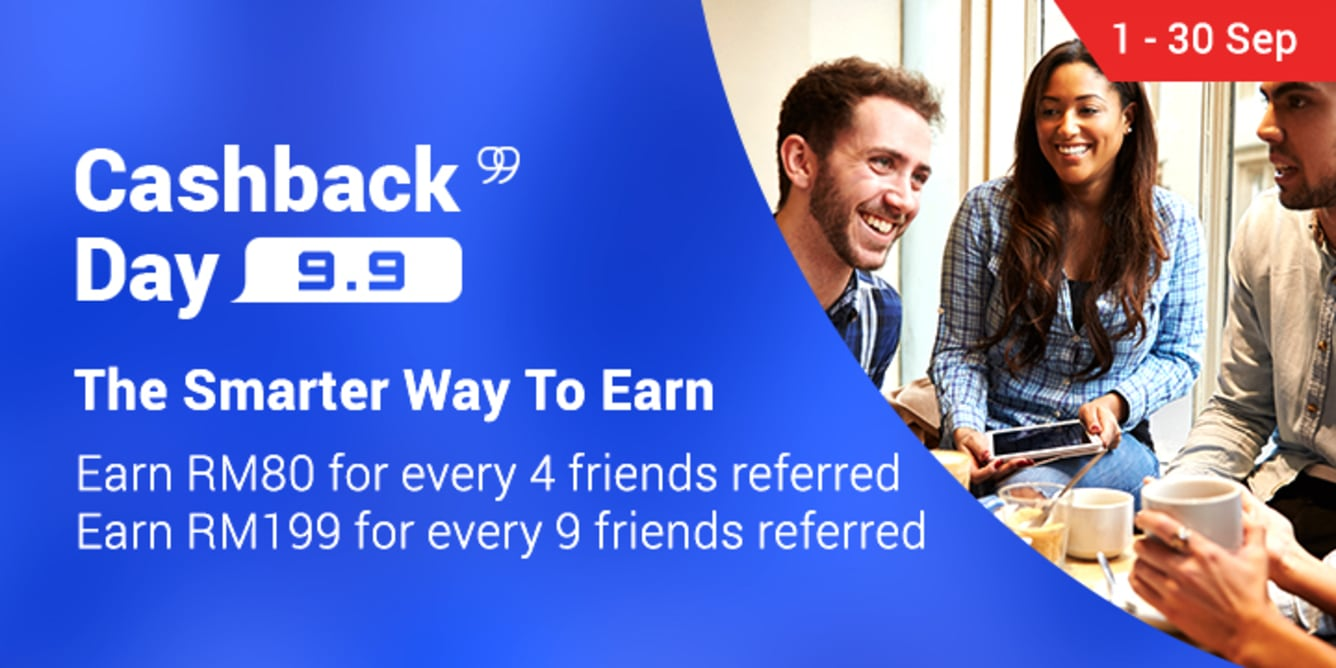 Refer 4 friends, Earn RM80 September 2017