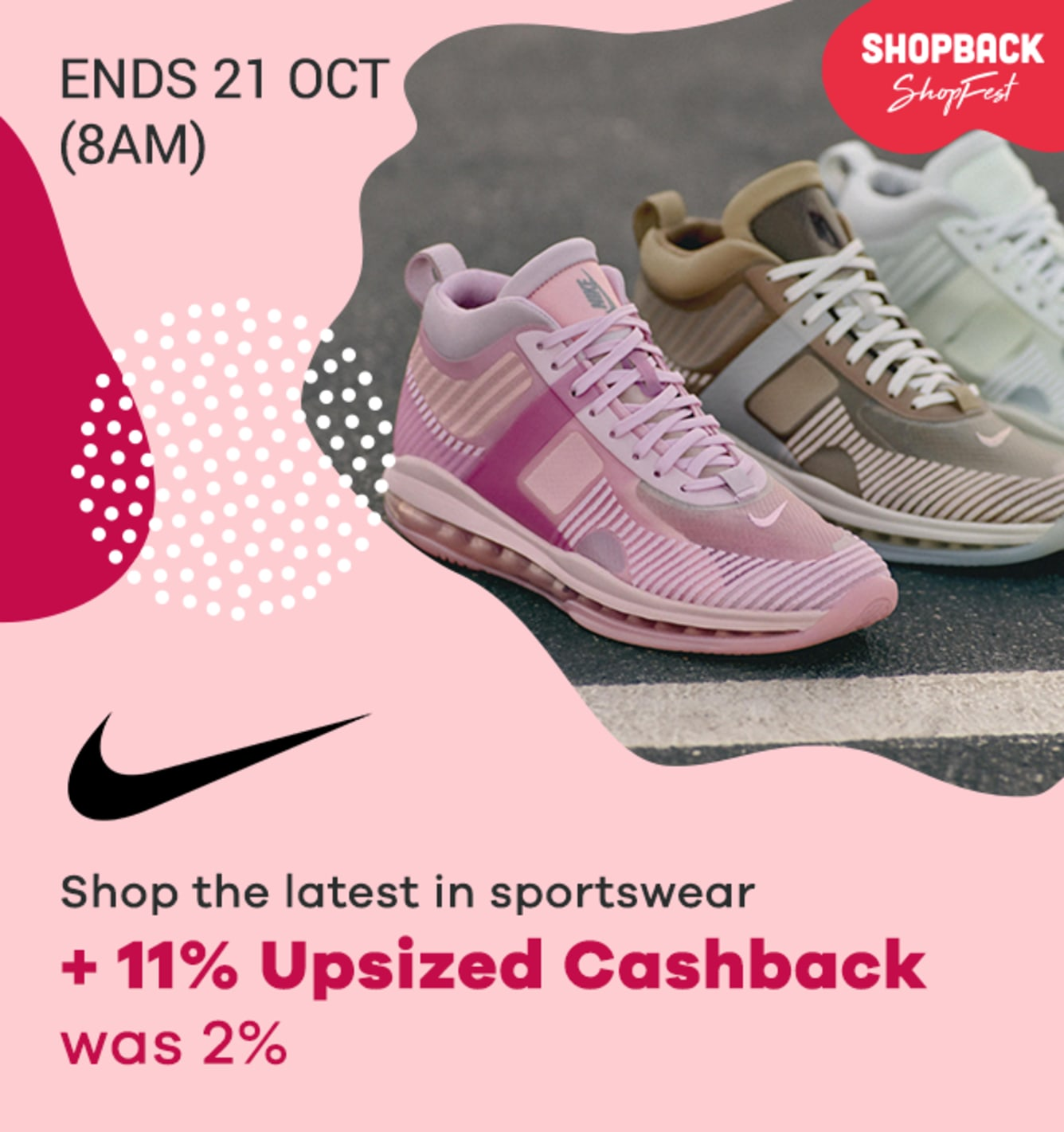Nike EPIC Upsized Cashback