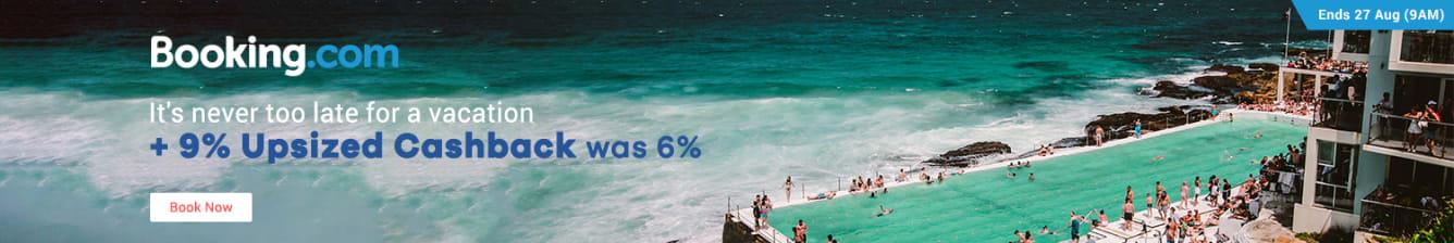 Travel Fair: Booking.com 9% Cashback
