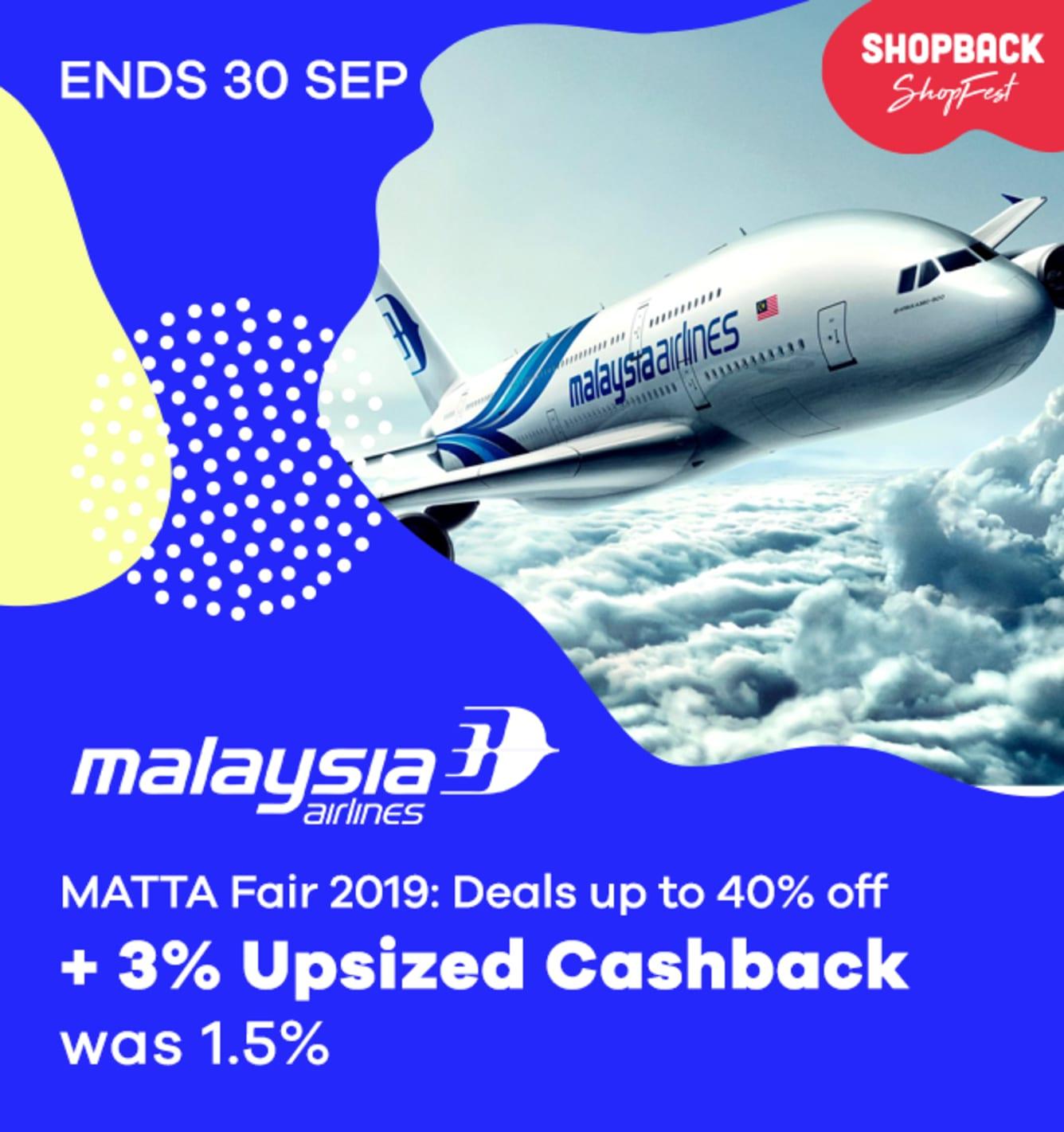 Malaysia Airlines Upsized Cashback