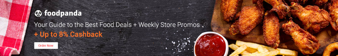 Foodpanda: Weekly Store Promos + Up to 8% Cashback